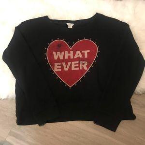 Forever 21 Heart Whatever Studded Crew Sweatshirt